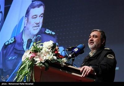 سخنرانی سردار حسین اشتری فرمانده نیروی انتظامی در همایش سهم من در امنیت و آرامش - قم