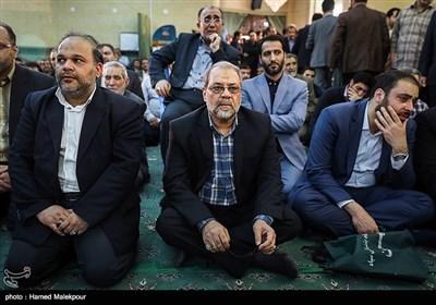 سردار محمدباقر ذوالقدر در مراسم ختم والده برادران طاهری مادحین اهل بیت(ع)