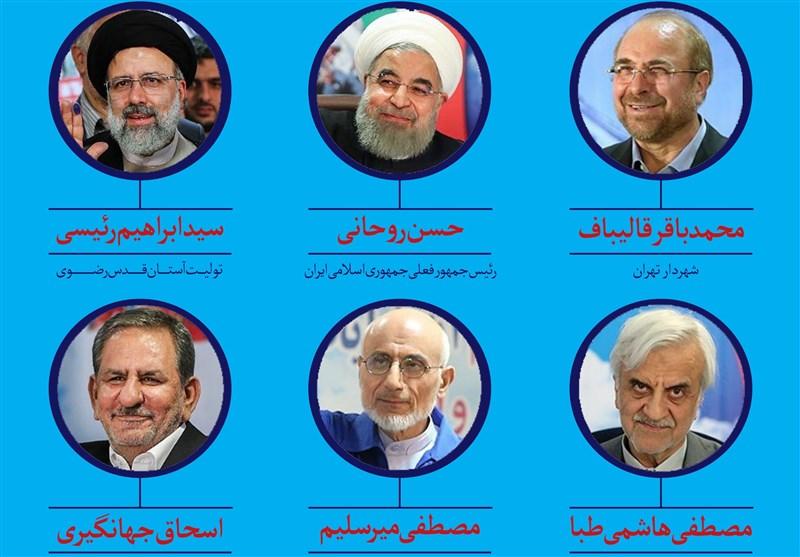 ریاست جمهوری روحانی رئیسی قالیباف انتخابات