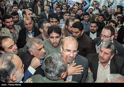 حضور محمد باقر قالیباف در یادواره شهدای بازی دراز - کرمانشاه
