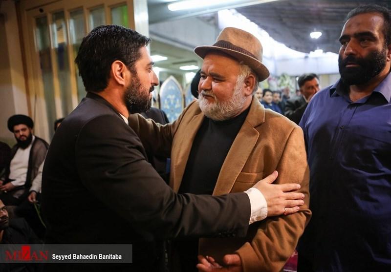 اکبر عبدی در مراسم ترحیم پدر مجید بنیفاطمه+عکس