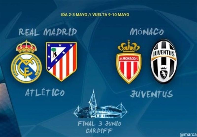برنامه دقیق برگزاری مسابقات مرحله نیمهنهایی لیگ قهرمانان اروپا اعلام شد