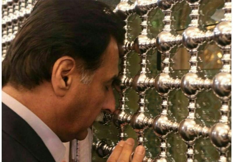 رئیس مجلس ملی پاکستان حرم حضرت معصومه(س) را زیارت کرد