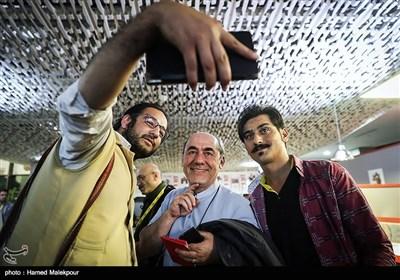 کمال تبریزی در اولین روز سی و پنجمین جشنواره جهانی فیلم فجر - پردیس سینمایی چارسو