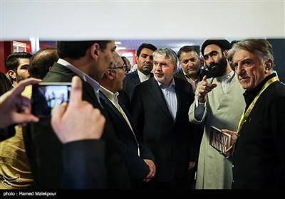 بازدید سیدرضا صالحی امیری وزیر فرهنگ و ارشاد اسلامی از بازار فیلم سی و پنجمین جشنواره جهانی فیلم فجر