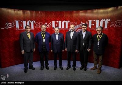 حضور سیدرضا صالحی امیری وزیر فرهنگ و ارشاد اسلامی در کاخ سی و پنجمین جشنواره جهانی فیلم فجر