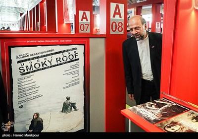 بازدید محمدمهدی حیدریان رئیس سازمان سینمایی از بازار فیلم سی و پنجمین جشنواره جهانی فیلم فجر