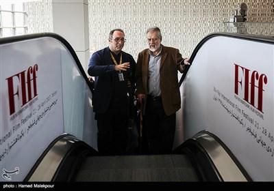 نادر طالبزاده و سیدرضا میرکریمی در اولین روز سی و پنجمین جشنواره جهانی فیلم فجر - پردیس سینمایی چارسو