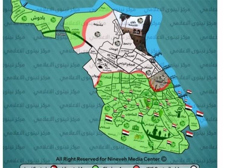 محله الربیع در کرانه راست موصل آزاد شد/سرنگونی پهپاد داعش