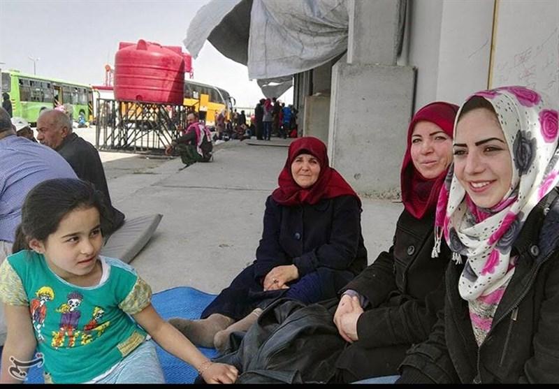 حلب میں کفریا اور فوعہ کے لوگوں کیلئے عارضی رہائشی کیمپ + تصاویر