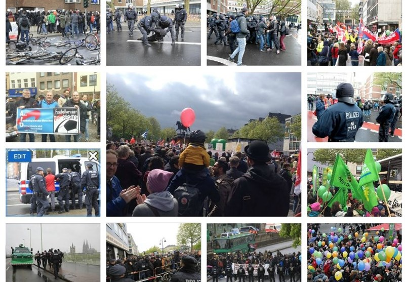 جرمن پولیس کی مظاہرین کیساتھ پرتشدد جھڑپیں / ویڈیو + تصاویر