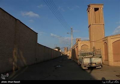 محوطه بیرونی خانه طباطبایی محله سلطان امیر احمد