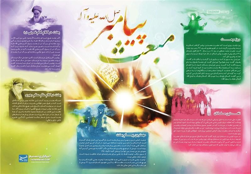 اینفوگرافیک/ مبعث پیامبر رحمت (ص)