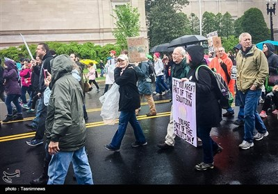 تظاهرات محققان آمریکایی در مقابل کاخ سفید