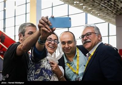 امیر اسفندیاری، مازیار میری، فاطمه معتمدآریا و همسرش در چهارمین روز سی و پنجمین جشنواره جهانی فیلم فجر