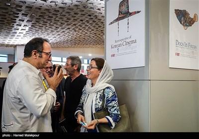 فاطمه معتمدآریا و سیدرضا میرکریمی در چهارمین روز سی و پنجمین جشنواره جهانی فیلم فجر