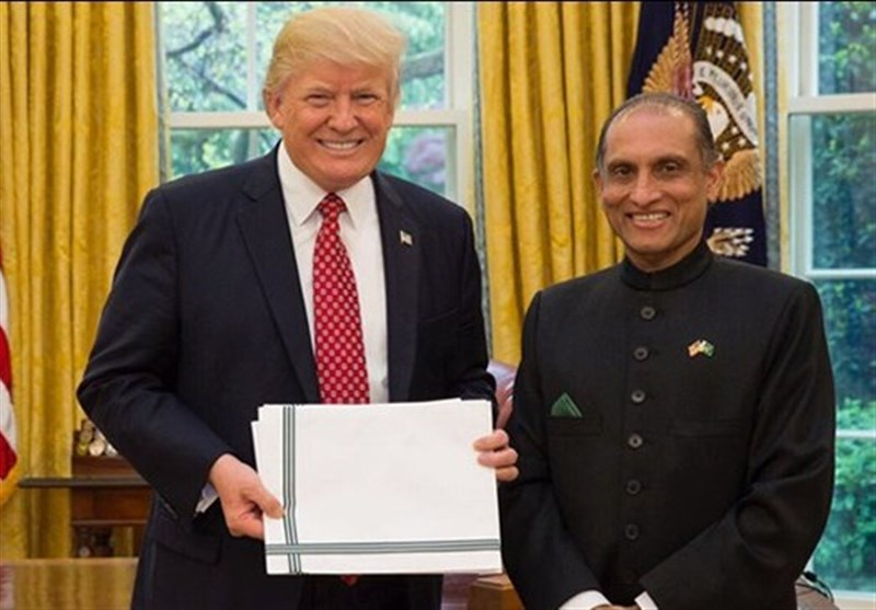 پاکستان کے نئے سفیر کی ٹرمپ سے ملاقات