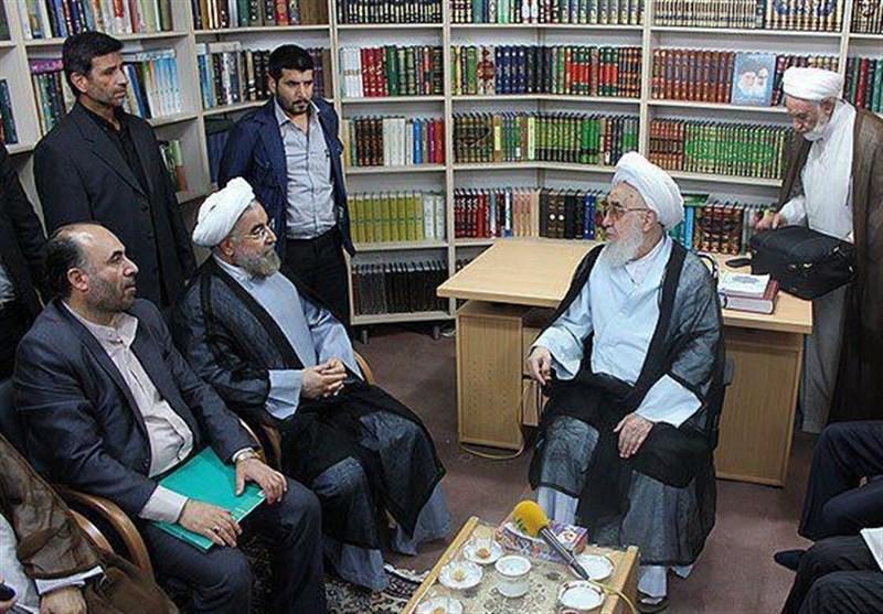 نتیجه تصویری برای عطاءالله حکیمی حسن روحانی