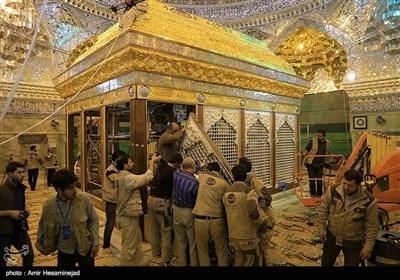 امامین عسکرین(ع) کے روضے کی تعمیرنو آخری مراحل میں