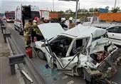 تصادف مرگبار پراید با کامیون