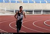 تمرین حسن تفتیان دونده المپیکی