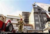آتش سوزی در پاساژ مهستان تهران