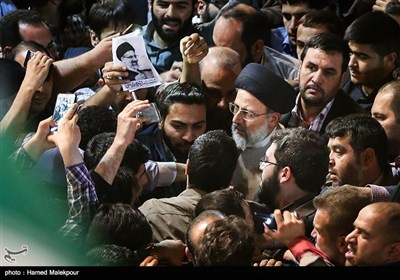 ورود حجتالاسلام سیدابراهیم رئیسی به اولین همایش حامیان مردمی در تهران