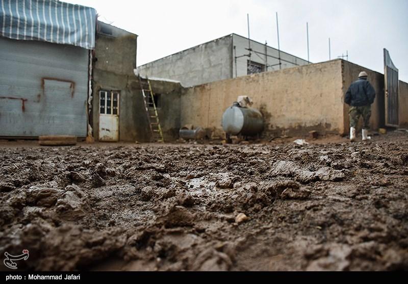 خسارات سیل در روستای گویجه ییلاق زنجان