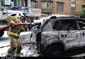 آتش سوزی زنجیرهای خودرو