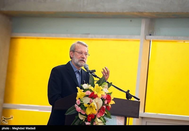 علی لاریجانی رئیس مجلس در مراسم افتتاح سی امین نمایشگاه بین الملی کتاب تهران