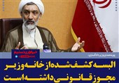 فتوتیتر/پورمحمدی:البسه کشف شده از خانه وزیر مجوز قانونی داشته است