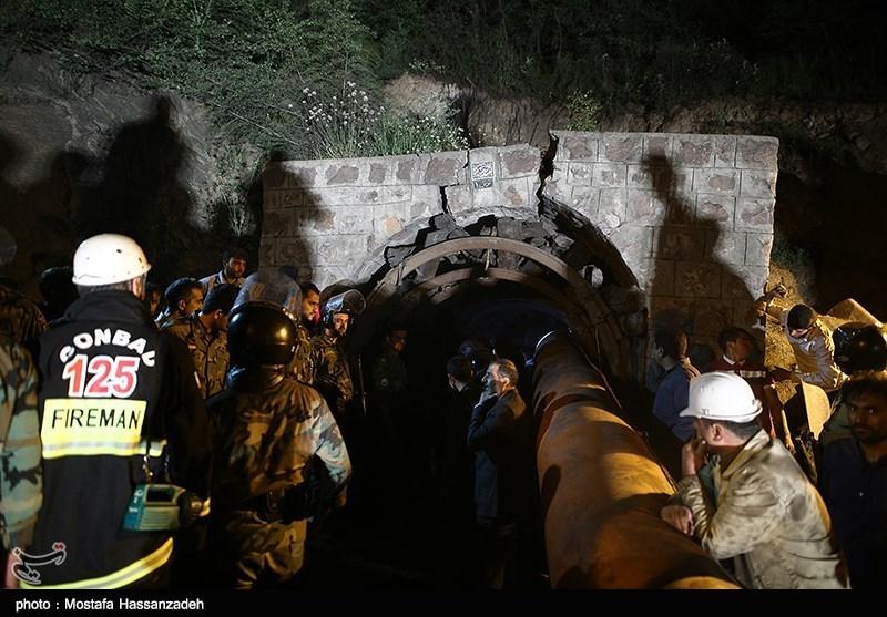 عمیات امدادرسانی به حادثه دیدگان ریزش معدن-گلستان