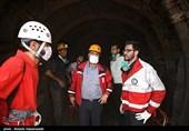 110 امدادگر هلالاحمر در حال امدادسانی به محبوسشدگان معدن آزادشهر هستند