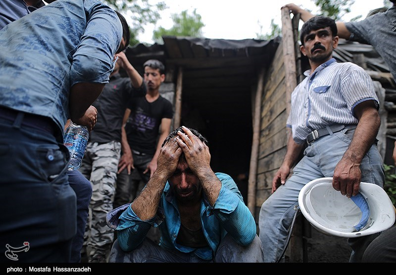 سومین روز امداد رسانی به مصدومان حادثه ریزش معدن - گلستان