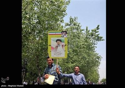 تبلیغات انتخاباتی پس از برگزاری نماز جمعه تهران