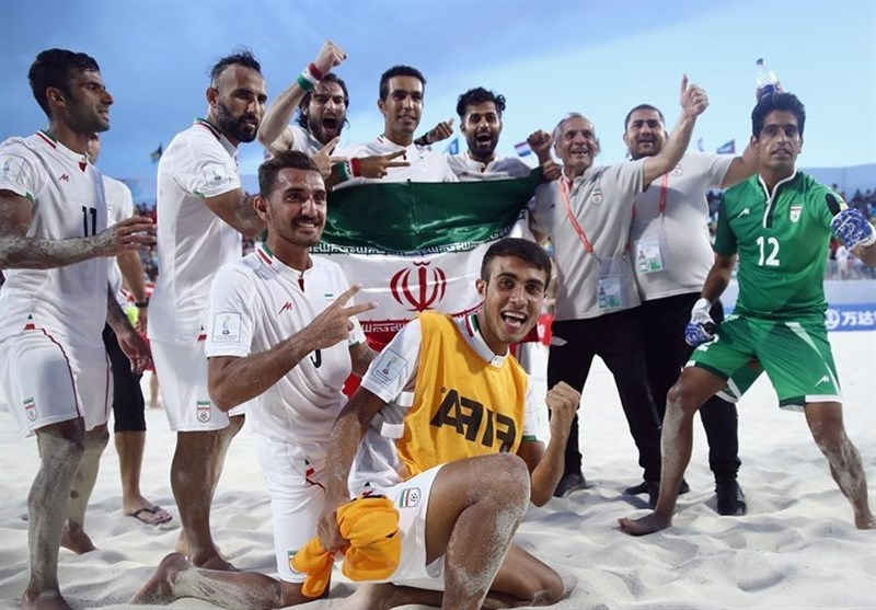 Iran Beach Soccer Moves to Third in World Rankings