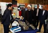 بازدید روحانی از نمایشگاه محصولات شرکتهای دانش بنیان