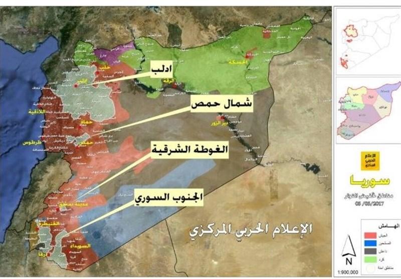 الجیش السوری یواصل تقدمه بریف حمص الشرقی و حشودات ترکیة إلى إدلب