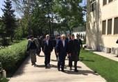 ظریف با رئیس جمهور سابق افغانستان دیدار کرد+فیلم