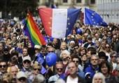تظاهرات شهروندان آلمانی در حمایت از ماندن فرانسه در اتحادیه اروپا برگزار شد