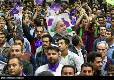 Rouhani Visits Oroumiyeh in Campaign Trail