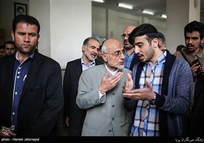 Iran Presidential Candidate Mirsalim Speaks at Tehran University