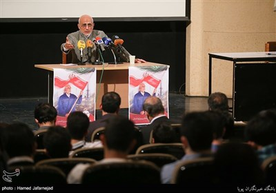 Iran Presidential Candidate Mirsalim Speaks at Tehran University