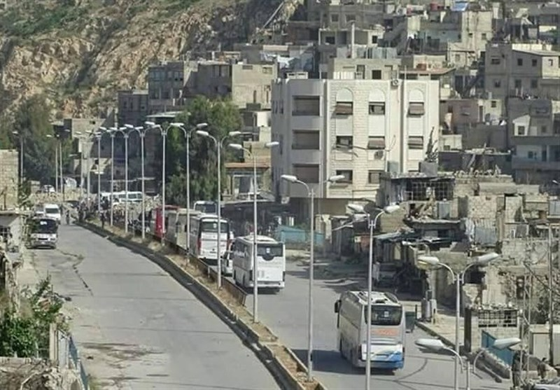 Hundreds of Militants Evacuated from Damascus Suburb