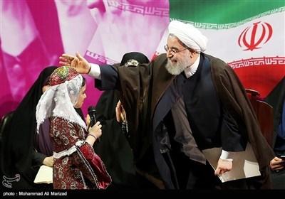 صدر حسن روحانی کی حامی خواتین کا عوامی جلسہ