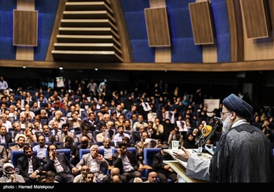 Teachers Supporting Presidential Candidate Raisi Hold Mass Meeting in Tehran