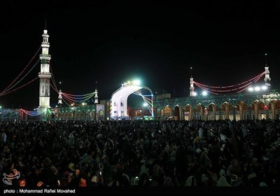 شب برات کے موقع پر مسجد جمکران کی روح پرور مناظر