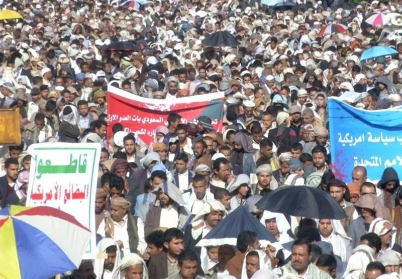 Yemenis Stage Massive Protest against US-Backed Saudi War