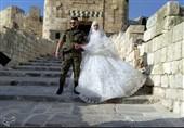 جشن عروسی 30 سرباز ارتش سوریه در مقابل قلعه تاریخی «حلب» + تصاویر و فیلم