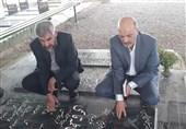 حضور اعضای ائتلاف تلاشگران صادق در گلزار شهدای اهواز + تصاویر